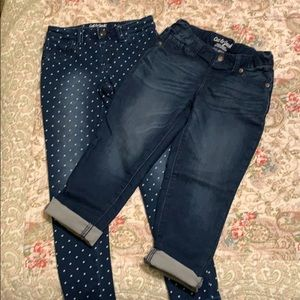 2 pair of Girl's Cat and Jack jeggings-size 8